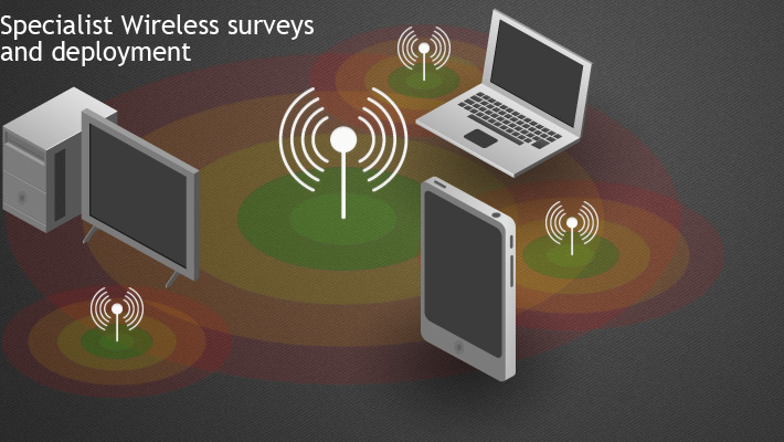 Wireless network Surveys, Wireless network installations and Wireless network Commercial Installations Solutions